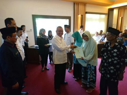 Penyerahan Sertifikat Tanah Program PTSL PM 2019 oleh Bupati Bantul