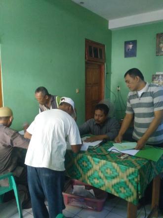 Pembagian sertifikat ptsl desa palbapang