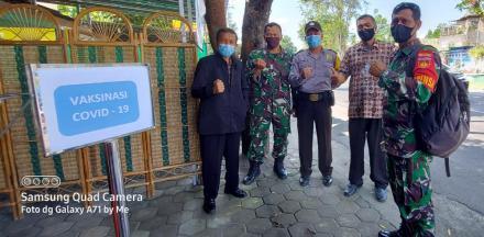 Vaksinasi covid 19 bagi pamong kalurahan Palbapang
